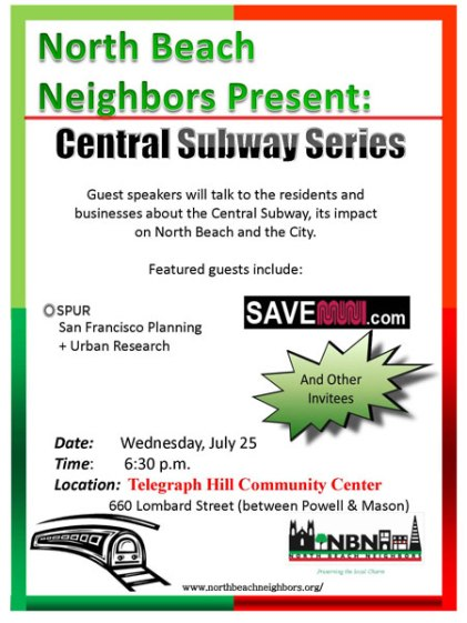 North Beach Neighbors Presents Central Subway Series